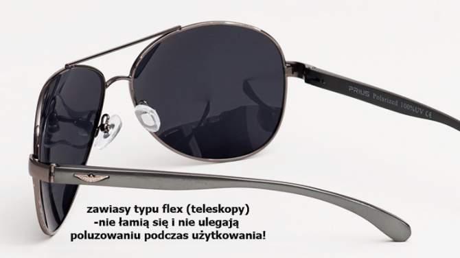 Okulary Polaryzacyjne Aviatory Pilotki Czarny 22C1